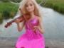 Violon jouet Barbie Poupée Rose Robe Musique