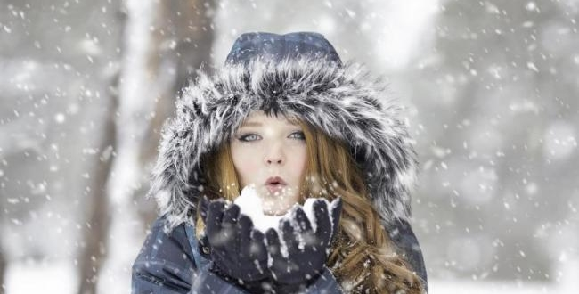 Hiver Femme neige Froid maigrir