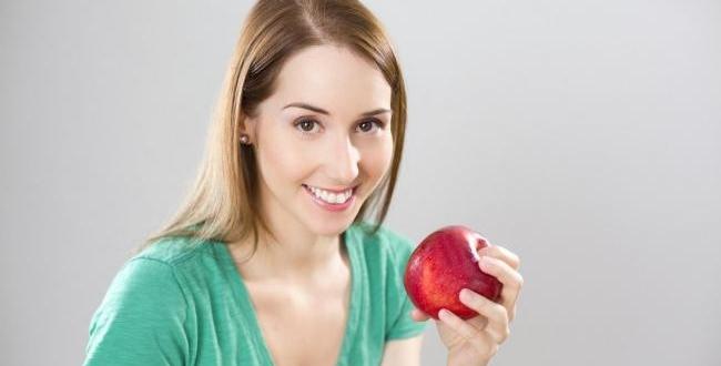 Pomme Santé Femme Fille Diète Repas Collation